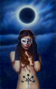 """Under a Dark Moon"" by Costel Duval 15"" X 24"""