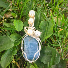 Custom aquamarine crystal necklace