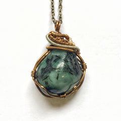 Men's Raw Emerald Necklace For Dad