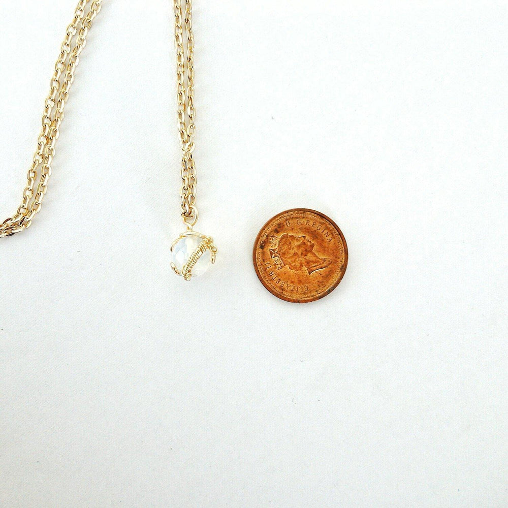Opalite Crystal Gold Charm Necklace DesignsbyNatureGems