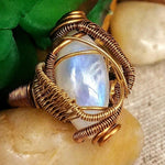 Rainbow Moonstone Ring - Crystal Engagement Ring