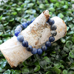 Sodalite Crystal Mala Bracelet for Stress Relief and Meditation