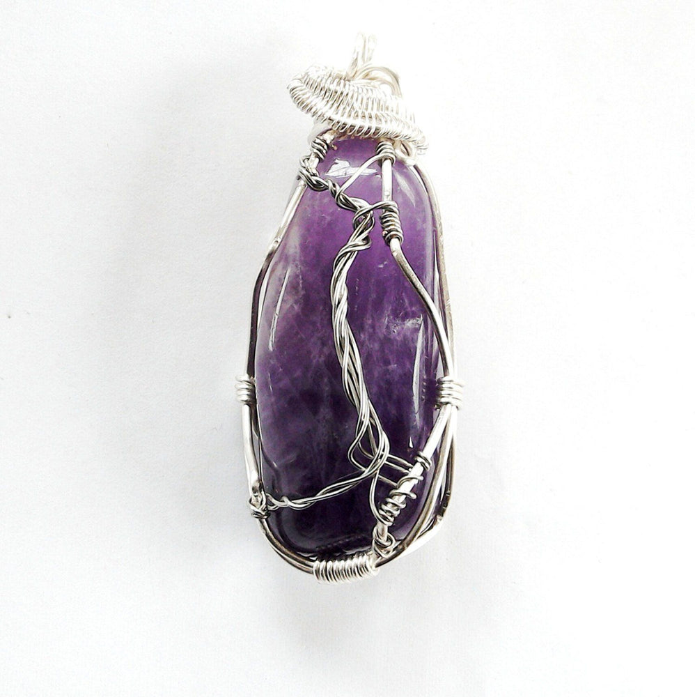 Wire Wrapped Amethyst Healing Crystal Necklace - Tree of Life | February Birthstone DesignsbyNatureGems