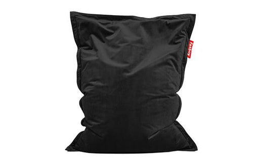 Fatboy Original Slim Velvet Bean Bag Chair - Black