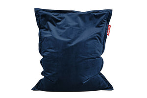 Fatboy Original Slim Velvet Bean Bag Chair - Dark Blue