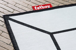 Off White Fatboy Carpretty Indoor Outdoor Area Rug Close Up