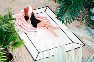 Off White Fatboy Carpretty Indoor Outdoor Area Rug with Floatzac