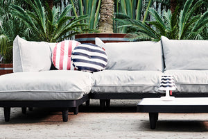 Fatboy Circle Outdoor Pillow on Paletti Outdoor Sectional
