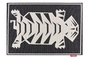 Caprettey Petit Nottazebroh Indoor/Outdoor Area Rug - Black