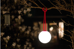 Red Fatboy Bolleke Wireless Hanging Lamp on Tree