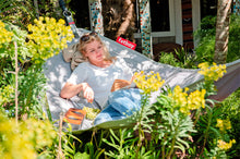 Load image into Gallery viewer, Fatboy Headdemock Hammock in the Garden