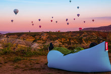 Load image into Gallery viewer, Fatboy Lamzac the Original Inflatable Lounger - Canyon with Hot Air Balloons