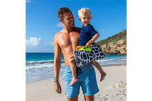 Load image into Gallery viewer, Dad and Boy with Fatboy Miasun x Vilebrequin Sun Shade on Beach