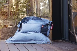 Fatboy Sunbrella Outdoor Pillow and Buggle-Up Outdoor Lounge Chair