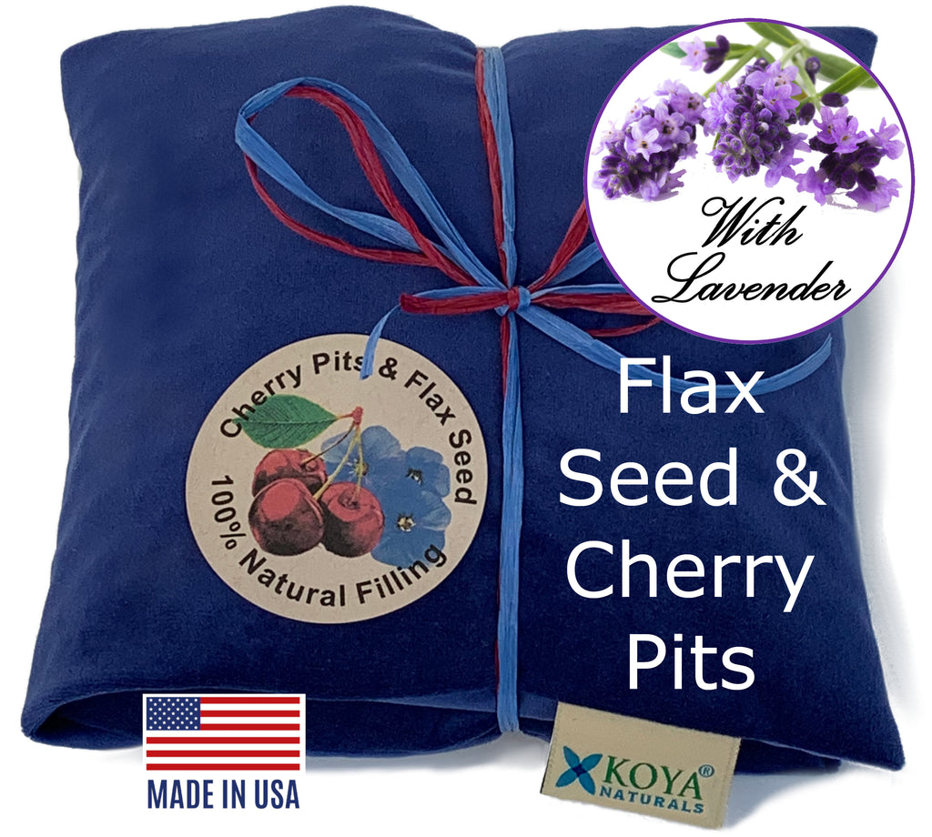 Flax and Cherry Pit Mix Pillows
