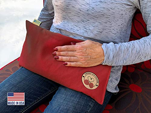 KOYA Naturals Heating Pad Microwavable - Cherry Pit/Stone/Seed Pillow Heat Pack for Neck, Muscles, Joints, Stomach Pain, Menstrual Cramps - Warm Compress Neck Wrap - Moist Heat Therapy
