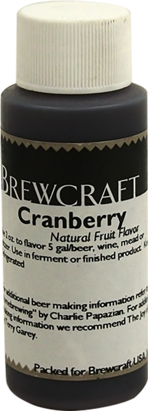 Natural Fruit Flavor, Cranberry- 2 oz