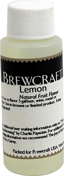 Natural Fruit Flavor, Lemon - 4 oz
