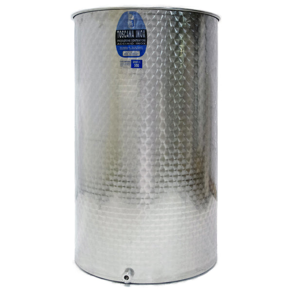 "500 L Variable Capacity Stainless Steel Tank - 1.5"" TC"
