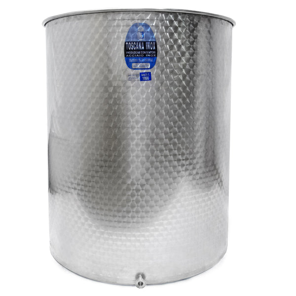 "(1025 mm) 1000 L Variable Capacity Stainless Steel  Tank - (1mm Wall Th, 1.5"" TC)"