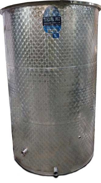 1000 L Stainless, Jacketed Fermenter for Controlled Temperature, Tri-Clamp
