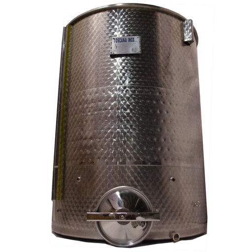 "Stainless, Jacketed 1500lt. Fermenter with 1 1.5"" TC Valve"