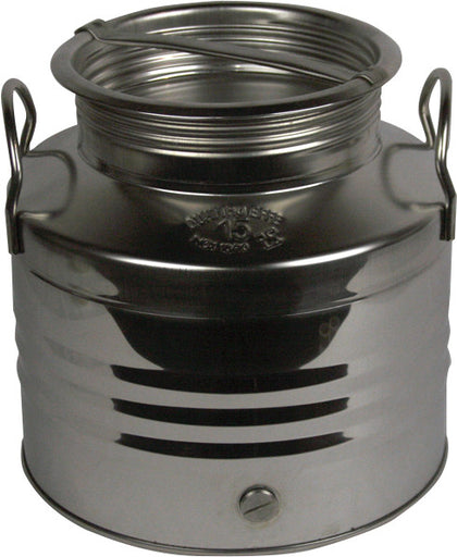 15 L Screw Lid Stainless Steel Olive Oil Drum