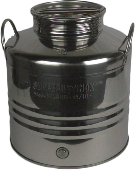 30 L Screw Lid Stainless Steel Olive Oil Drum