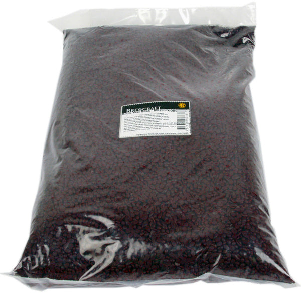 Bottle Wax Beads - Burgundy - 10 LB / 4.536 kg Bag