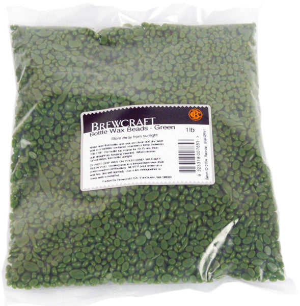 Bottle Wax Beads - Green - 1 LB / 453.59g Package