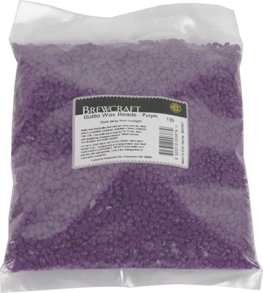 Bottle Wax Beads - Purple - 1 LB / 453.59g Package