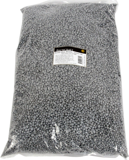 Bottle Wax Beads - Silver - 10 LB / 4.536 kg Bag