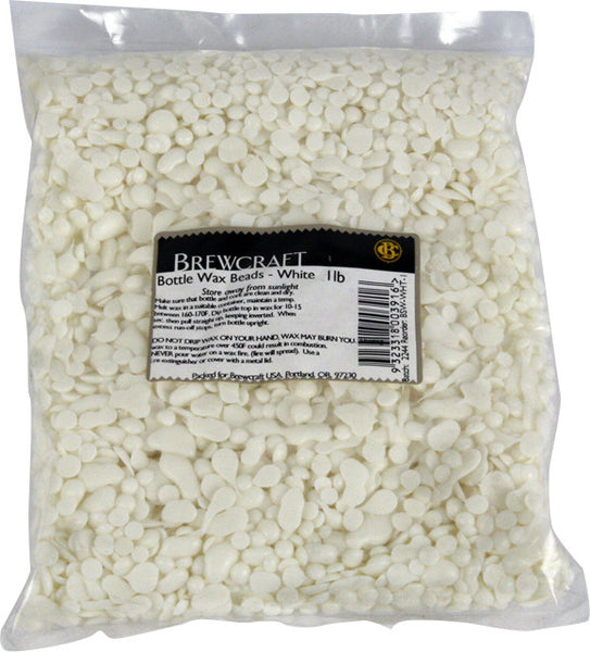 Bottle Wax Beads - White - 1 LB / 453.59g Package