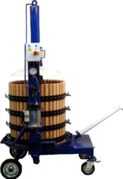 Electric Hydraulic Vertical Press - Wooded Basket