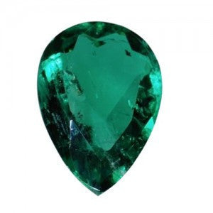 Lab Created Pear Shaped Emerald