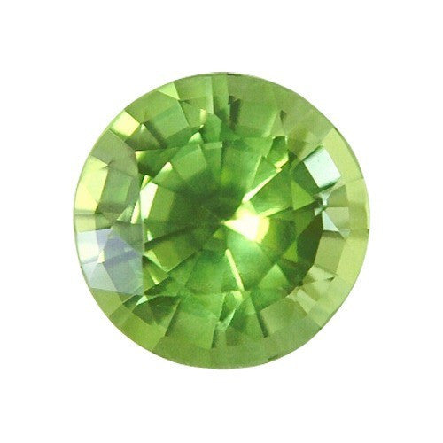 Lab Created Round Peridot Gem.