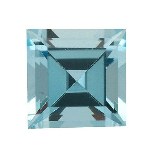 Lab Created and Square Shaped Aquamarine Gem.