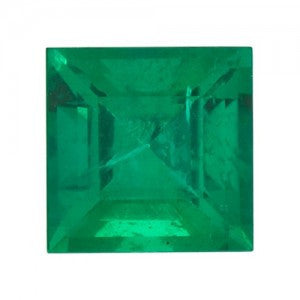 Lab Created and Square Emerald