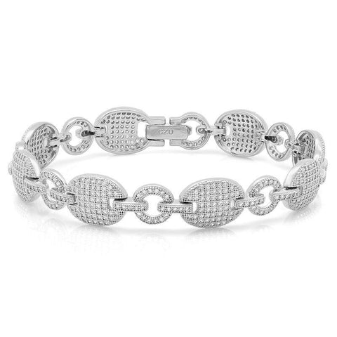 Wide & Capable CZ Bracelet