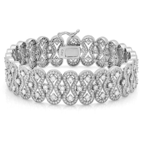 A Crown Equivalent CZ Bracelet