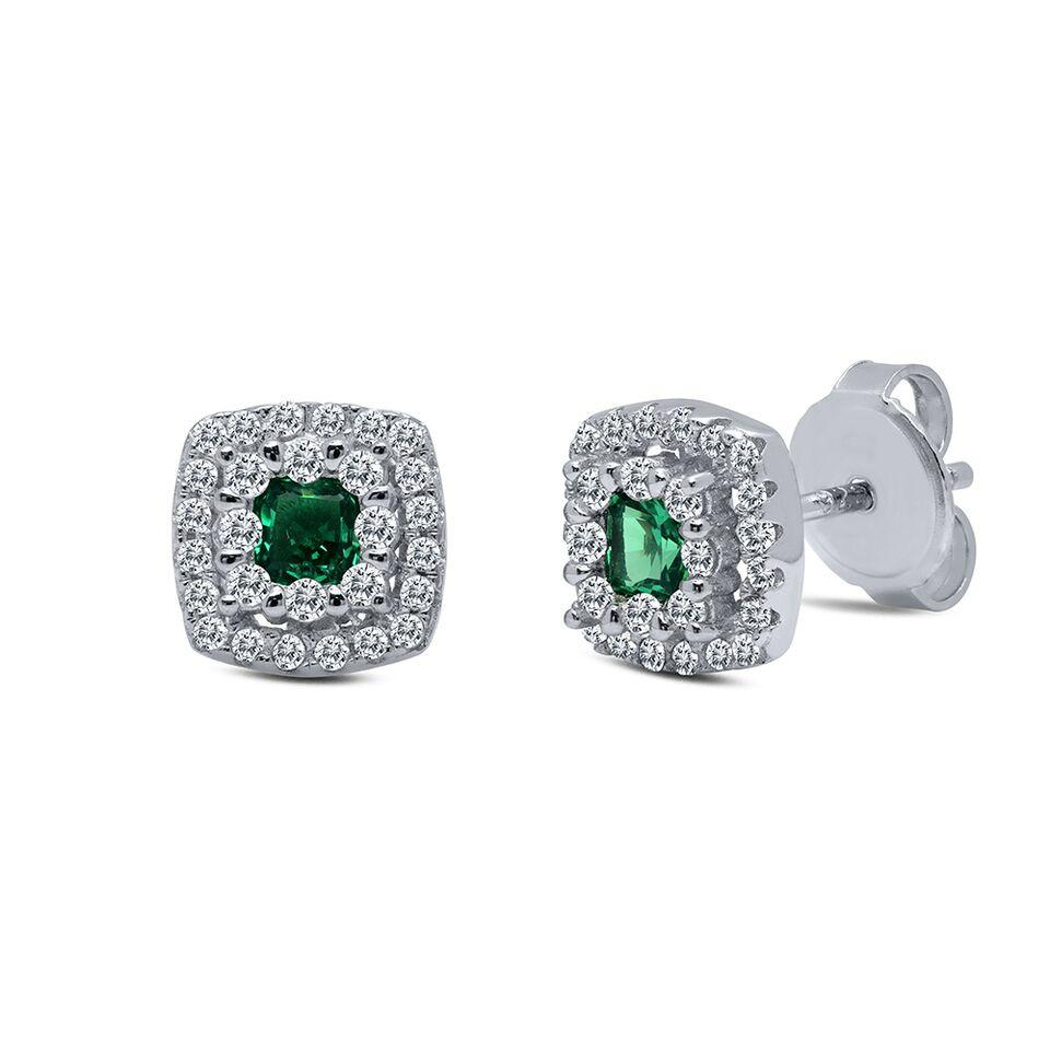 Emerald Elegance Post Earrings