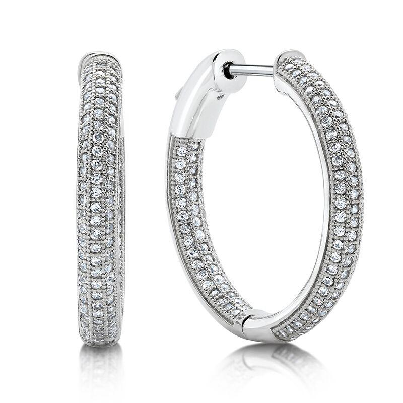 Perfect Pave Hoop Earrings