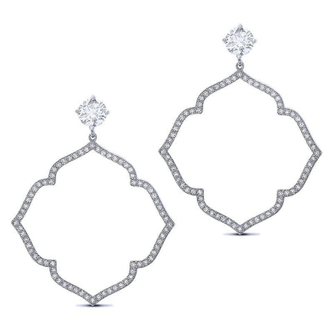 Lightening Stud & Cubic Zirconia Earrings
