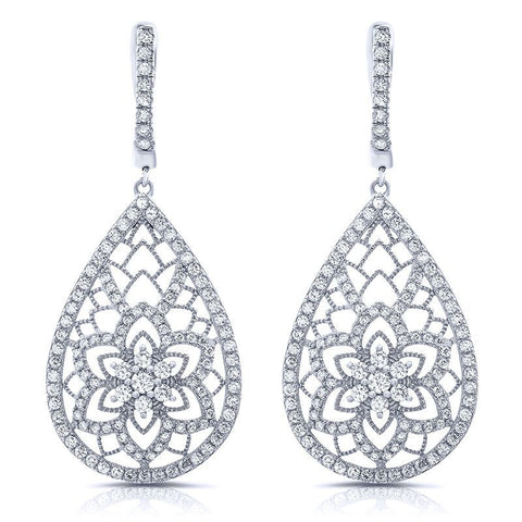 Triple Ice Cubic Zirconia Earrings