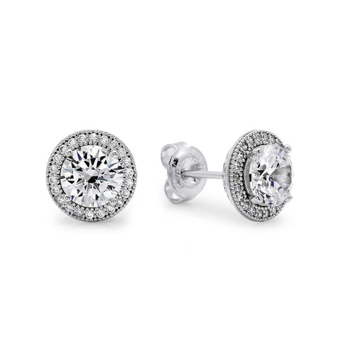 Square Shaped & Cubic Zirconia Stunner Earrings
