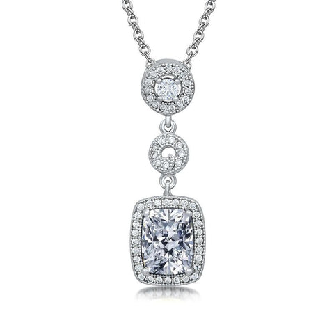Two-Tone Cubic Zirconia Mix Pendant