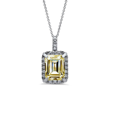 Yellow in the Middle CZ Pendant
