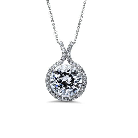 Two Hearts In One CZ Pendant