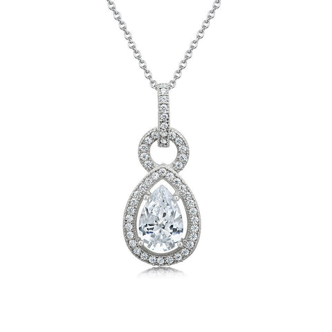 Three Way Cubic Zirconia Alignment Necklace