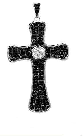 The Simple CZ Cross Pendant